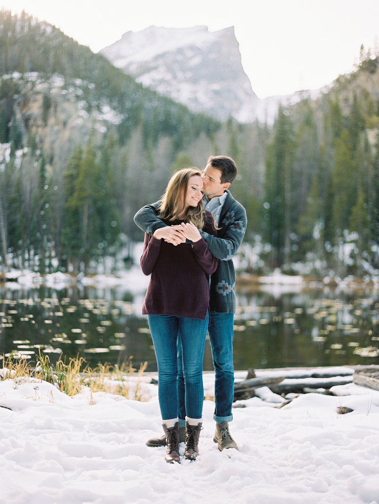 Rocky Mountain National Park Engagement Photos | Fine Art Film | Winsome and Wright