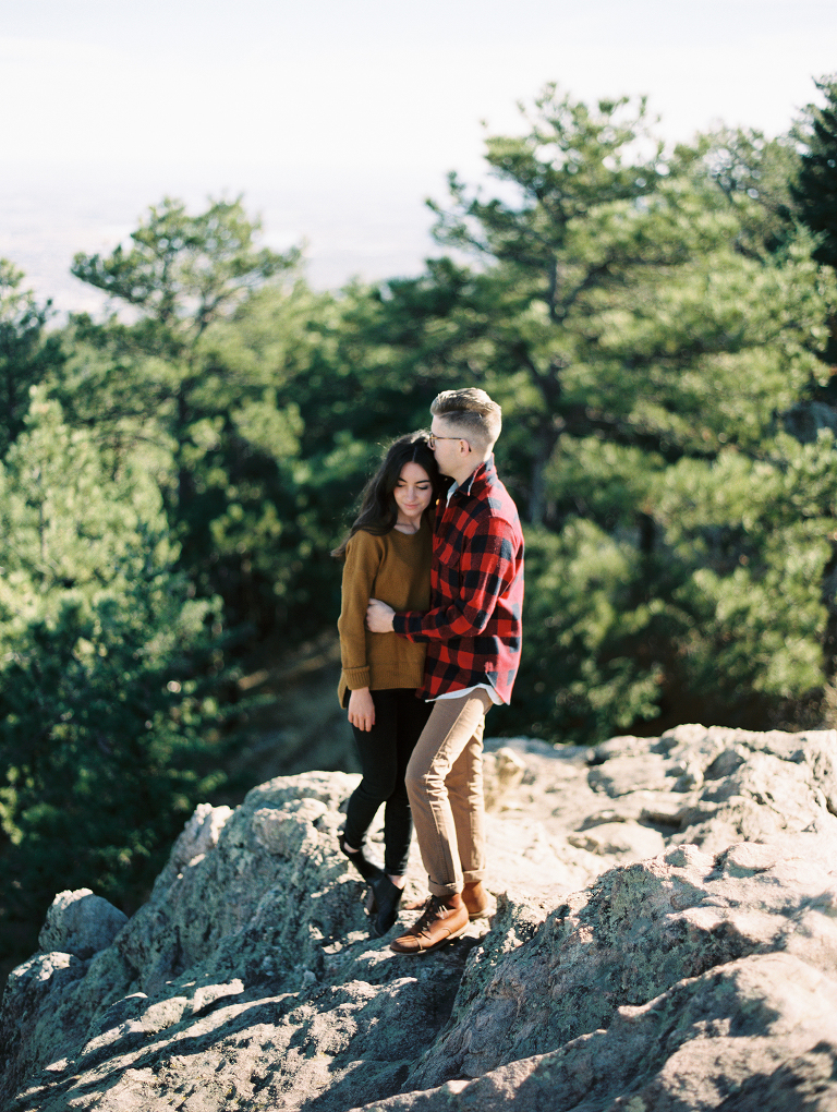 lost gulch lookout engagement photos